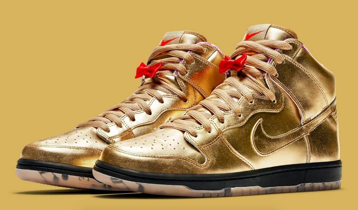 Tenis Nike SB dorados