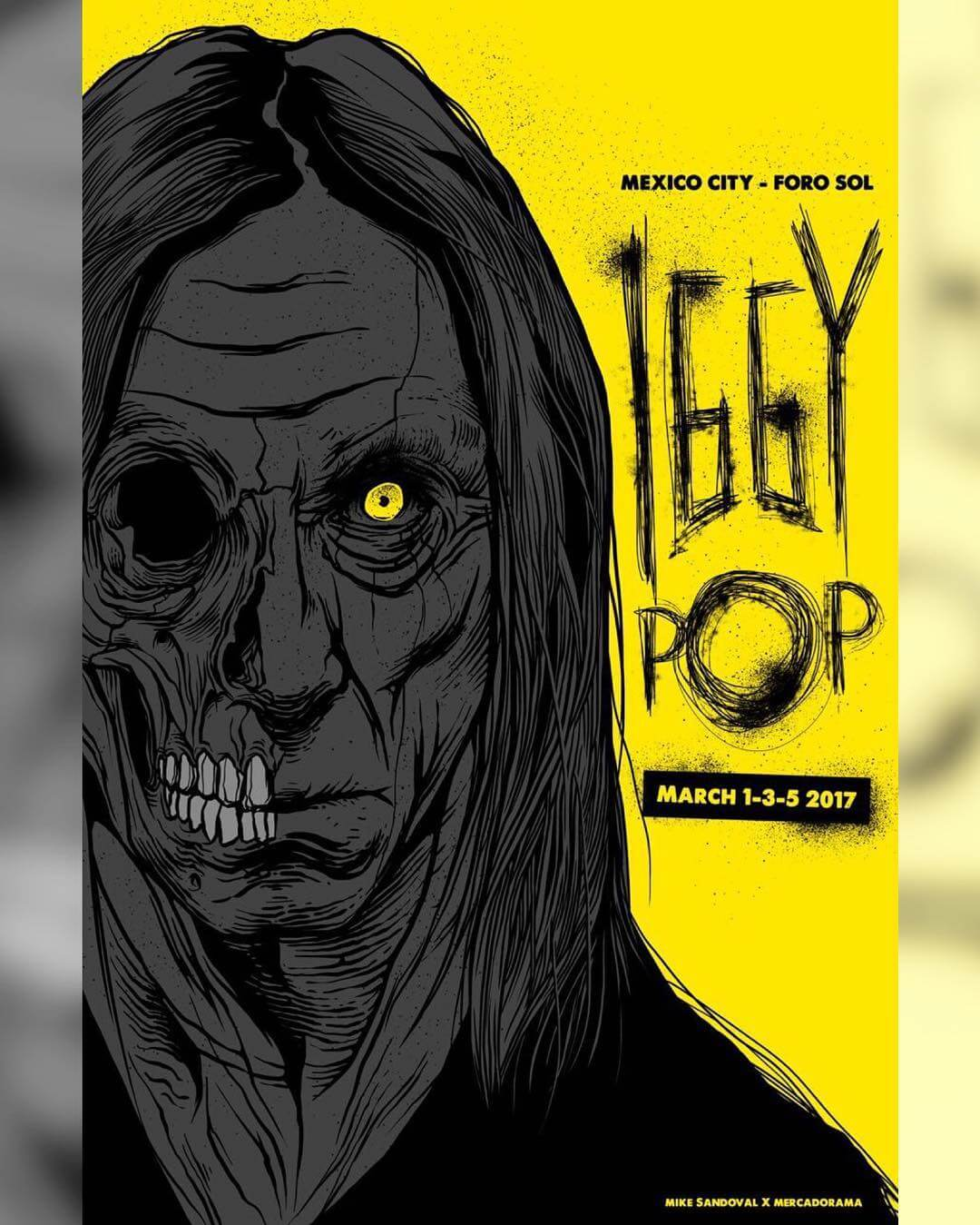 Cartel Para Iggy Pop de Mike Sandoval