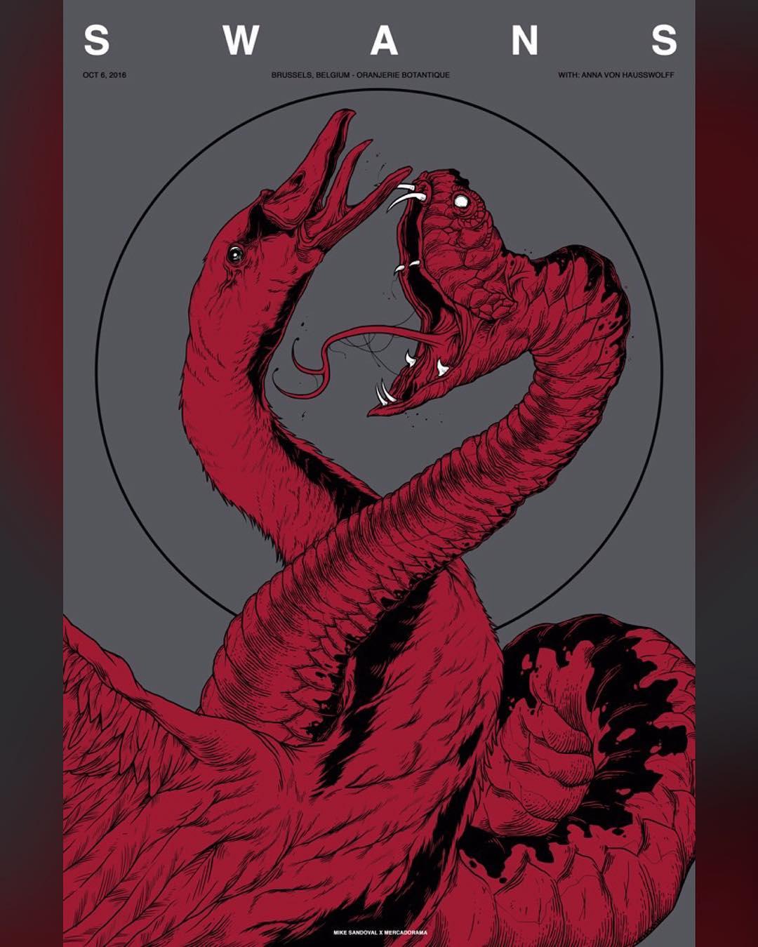 Cartel para Swans de Mike Sandoval