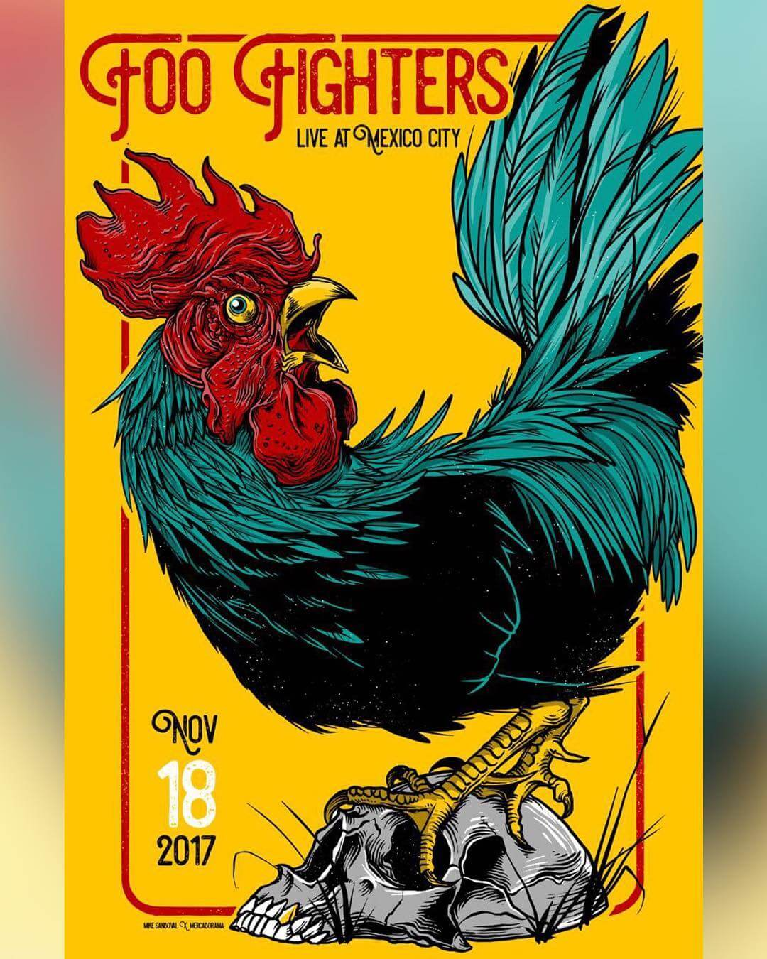 Cartel para Foo Fighters de Mike Sandoval