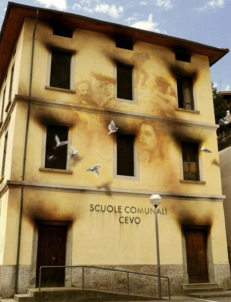 Mural de ERON cotra la guerra