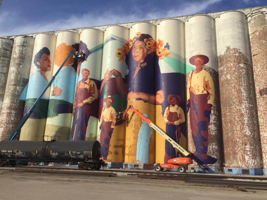 Mural de Horizontes Project en Wichita