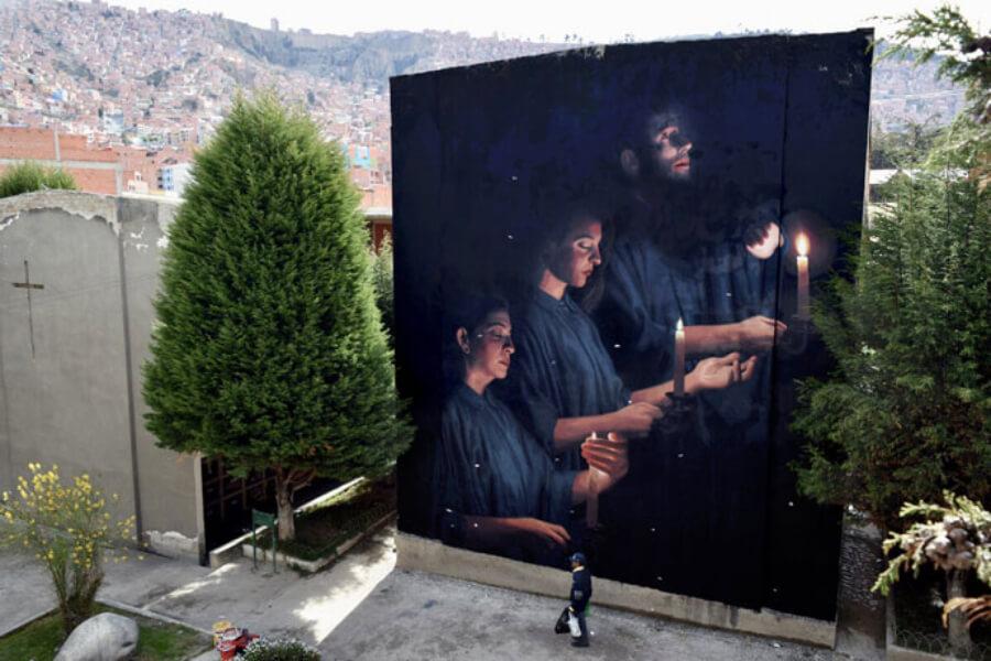 Mural de Theic en La Paz Bolivia