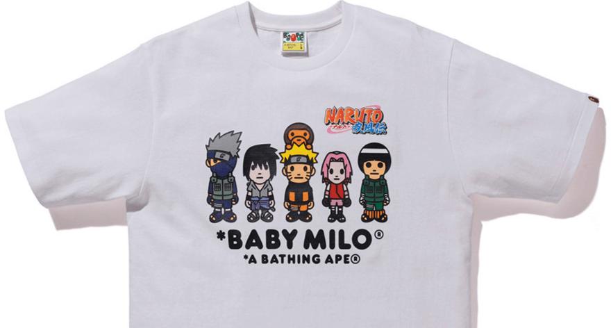 Naruto y Boruto en una colección de Bape