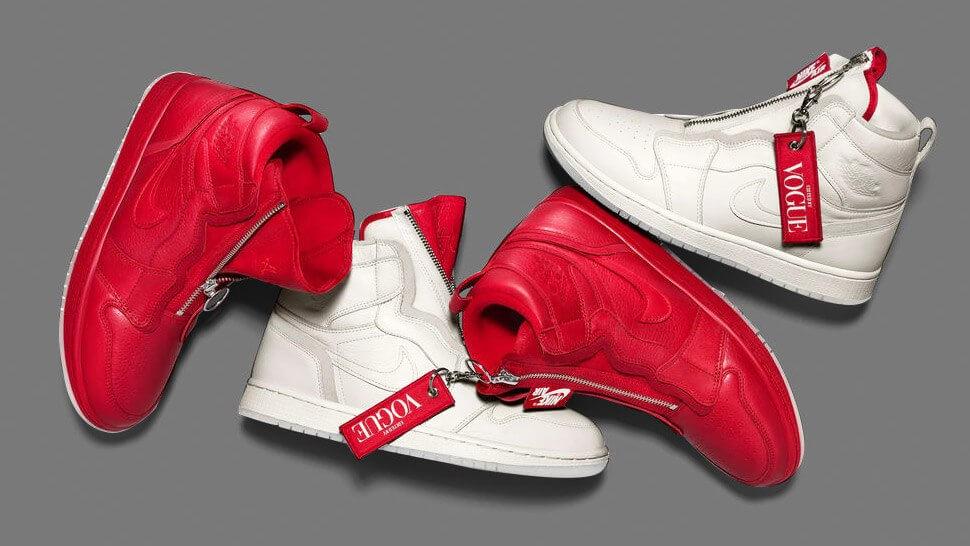 Tenis rojos y blancos Anna Wintour