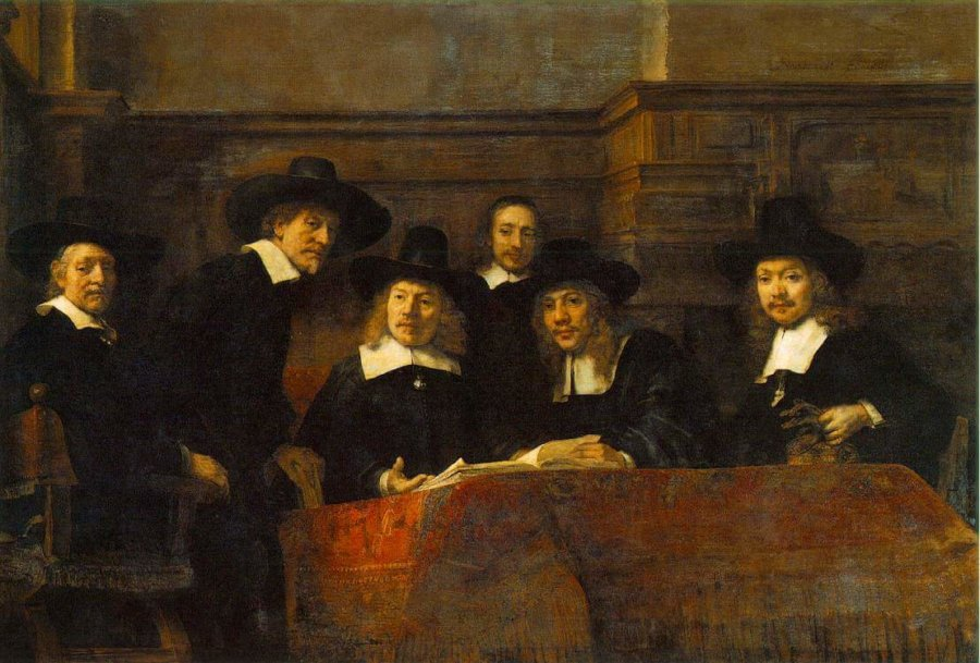 Obra The Sampling Officials de Rembrandt - Lista de museos que dejan descargar gratis