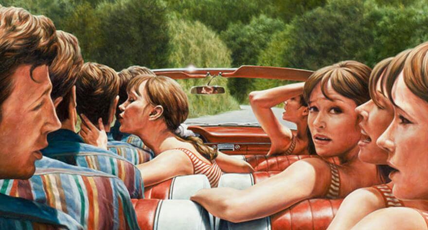 El pintor Eric White es el favorito de Hollywood