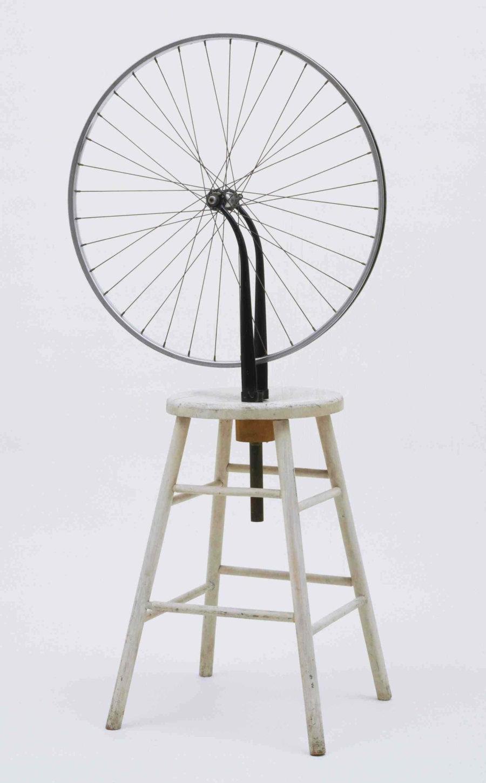 Obra de Marcel Duchamp rueda de bicicleta