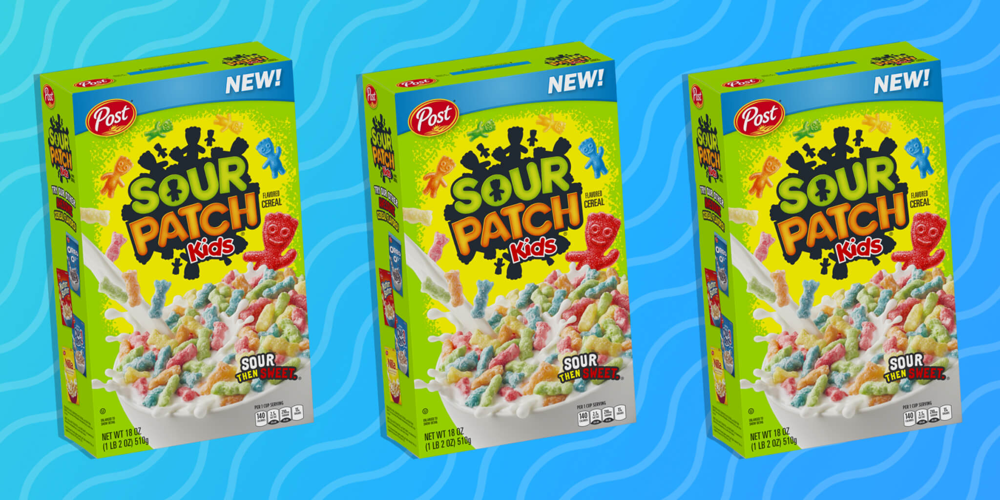 aspecto de la caja de cereal Sour Patch Kids