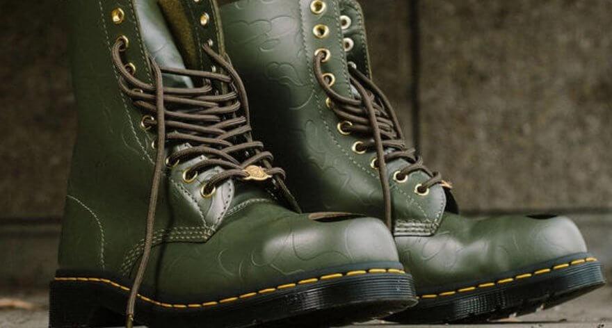 Bape y Dr. Martens lanzan botas y zapatos colaborativos