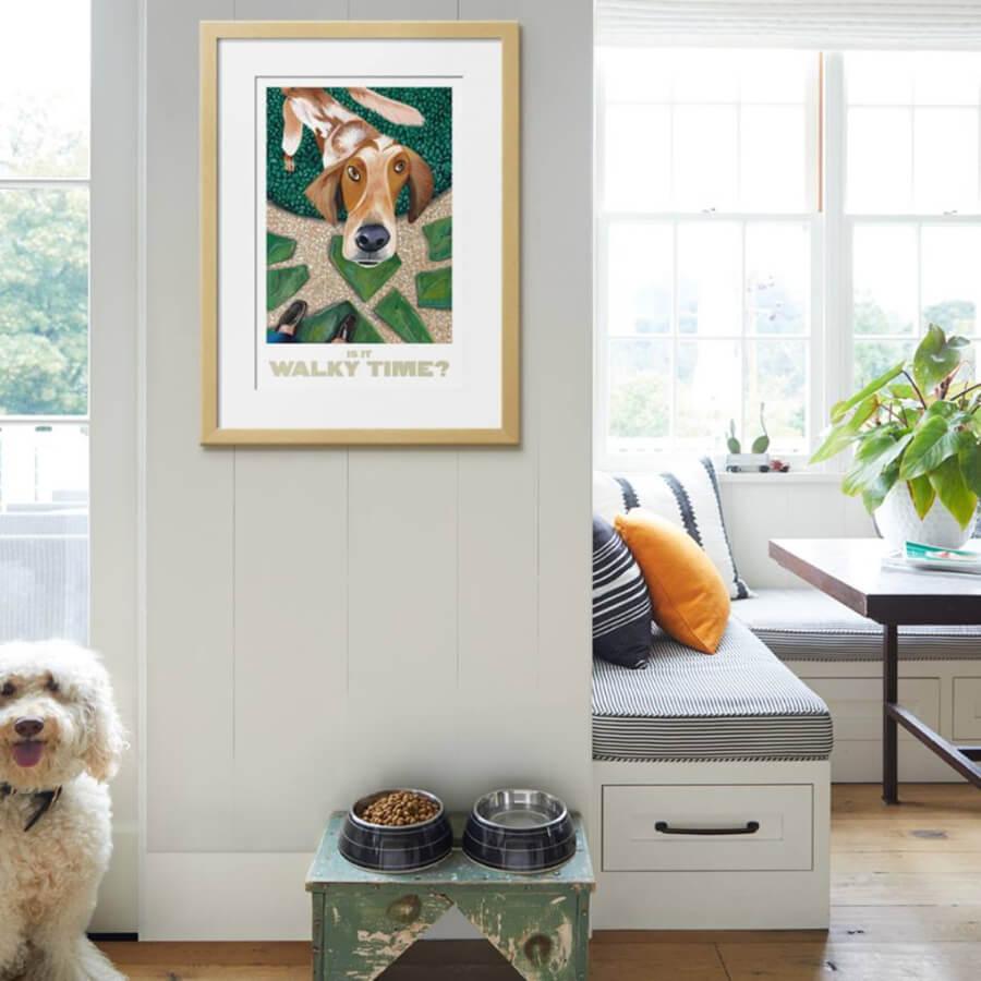 imagen de los canvas de art.com en un hogar