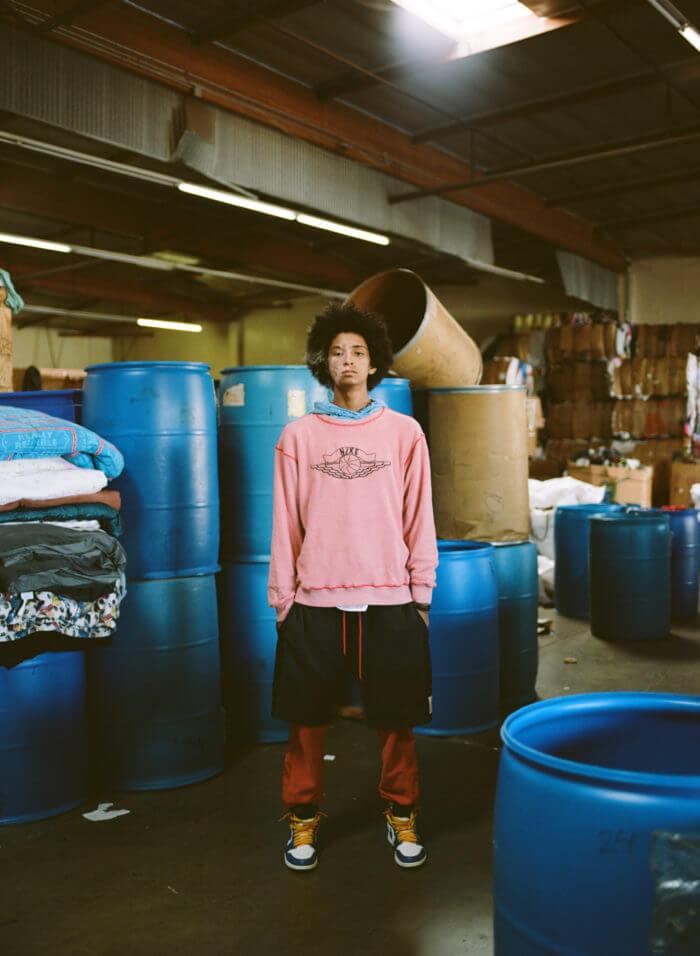 Parte de la colección de Jordan x Union LA