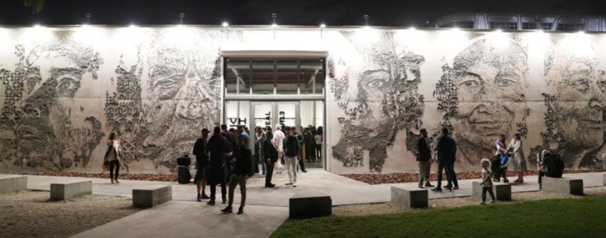 Vhils crea mural en la Galería GGA de Miami