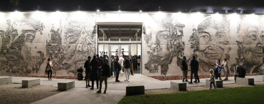 Mural Ethereal de Vhils en Miami
