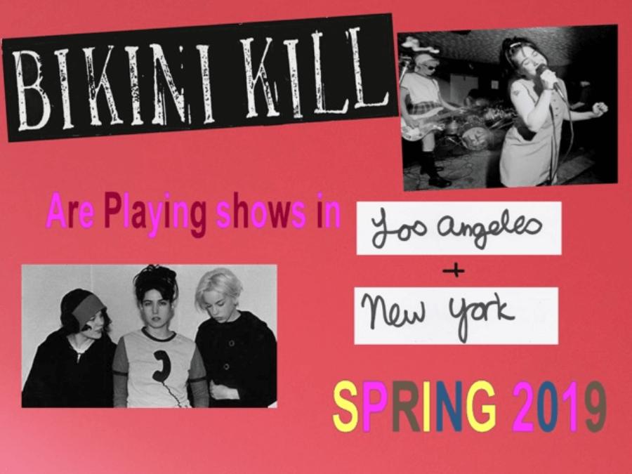 Poster oficial de gira de Bikini Kill 2019