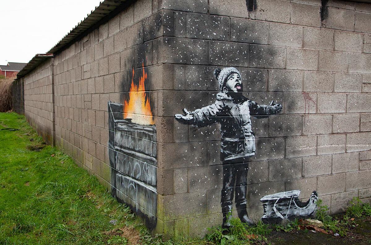 Última obra publicada por Banksy