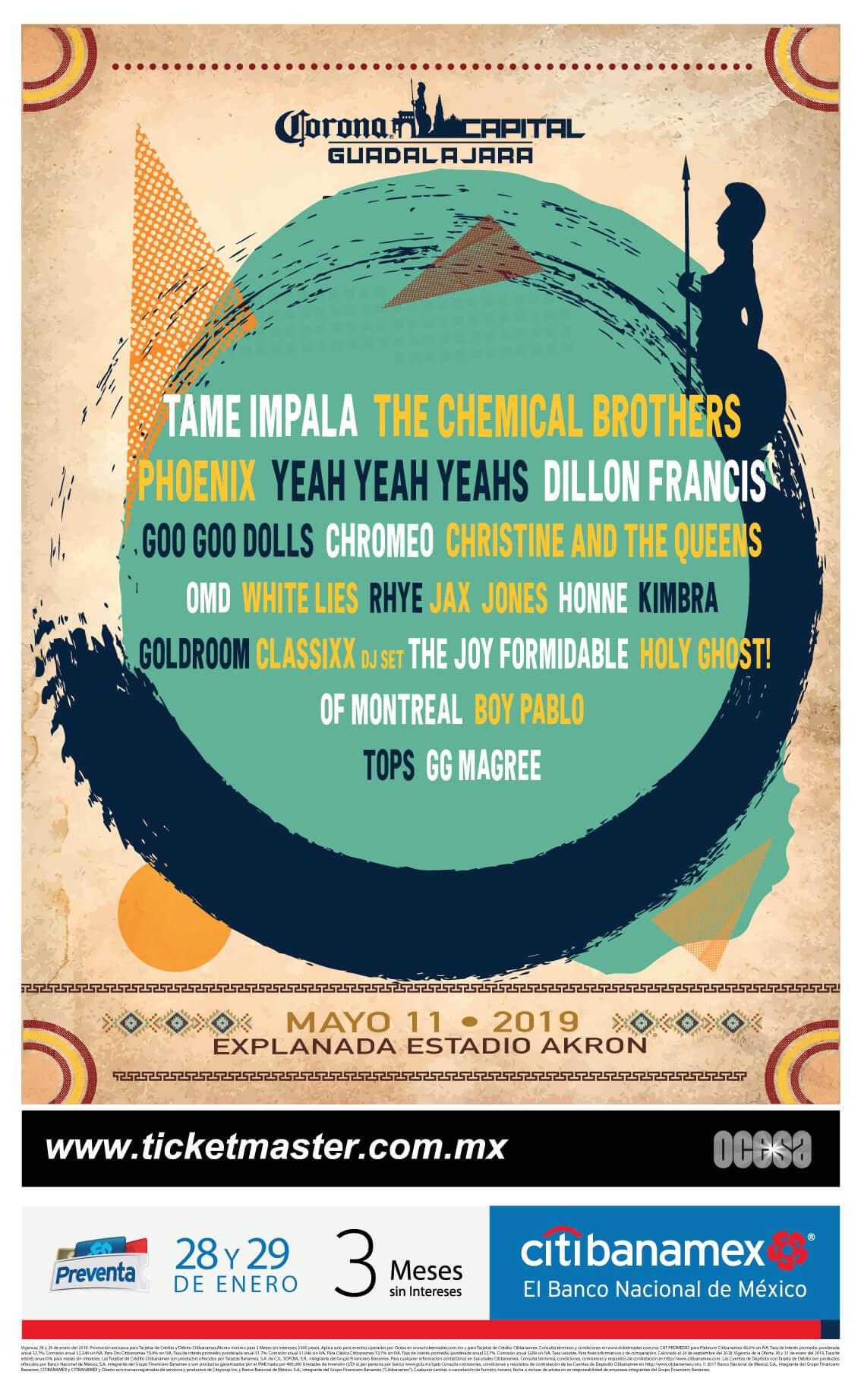 Corona Capital GDL 2019 de los mejores conciertos del año