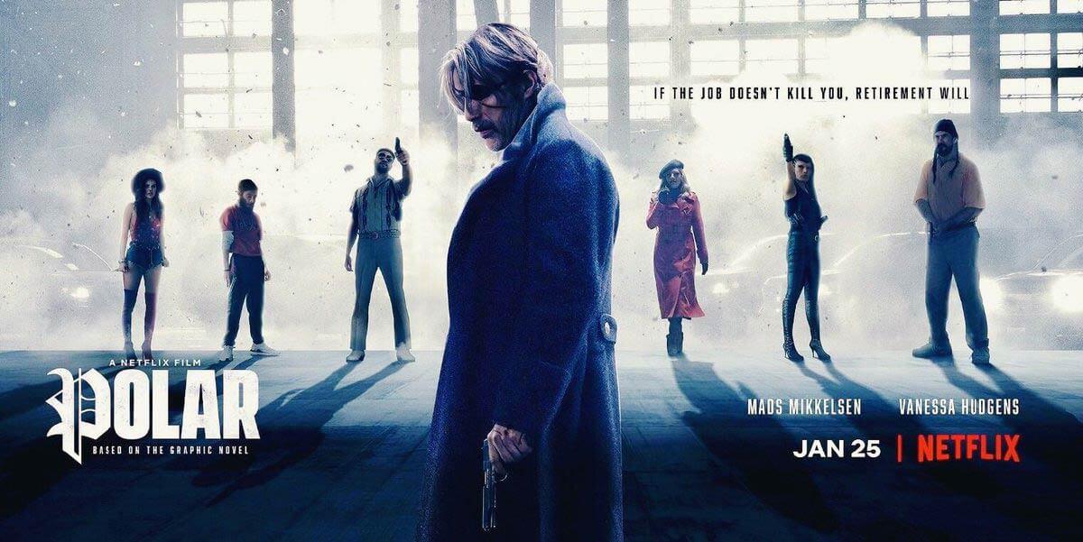 Flyer oficiar de Polar, adaptación de Netflix