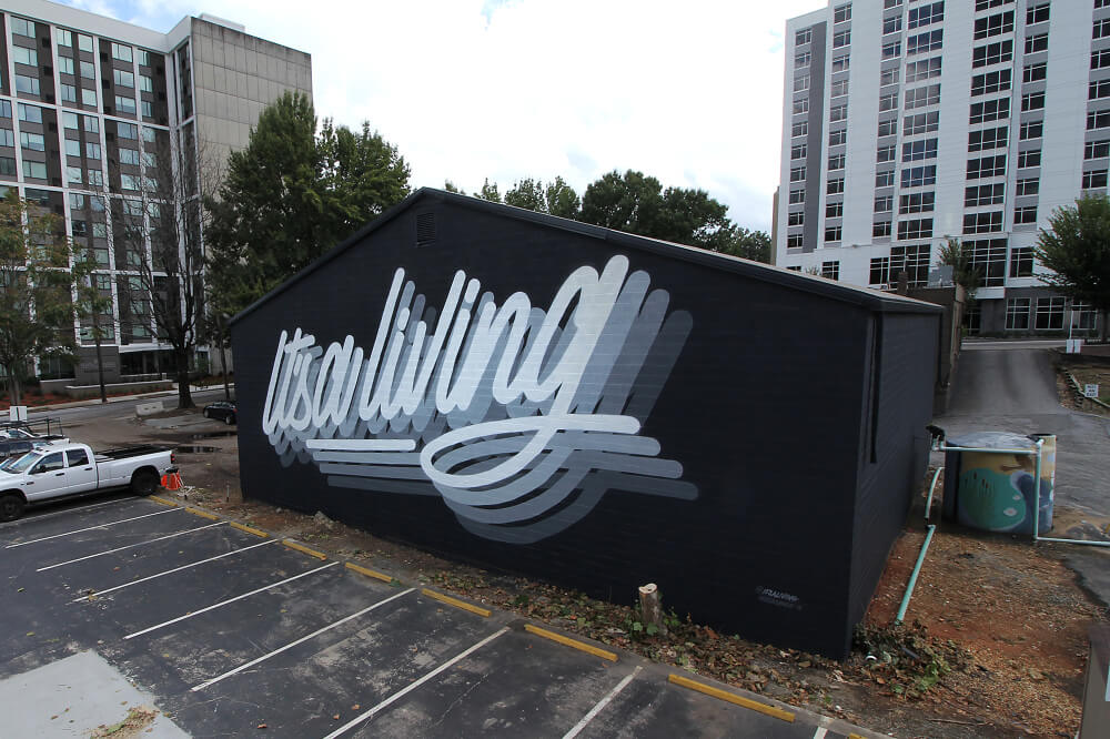"Mural ""It´s a living"" para el proyecto de Outerspace Atlanta, Georgia, EE. UU. - 2018"