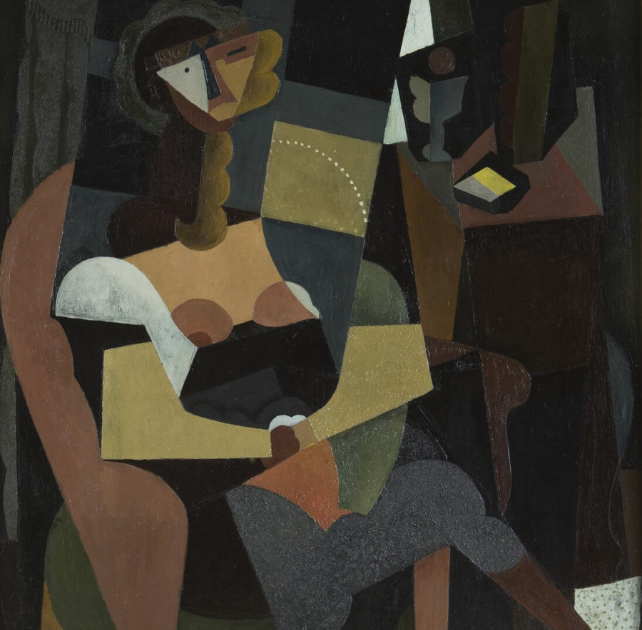 Mujer sentada en una butaca de Diego Rivera