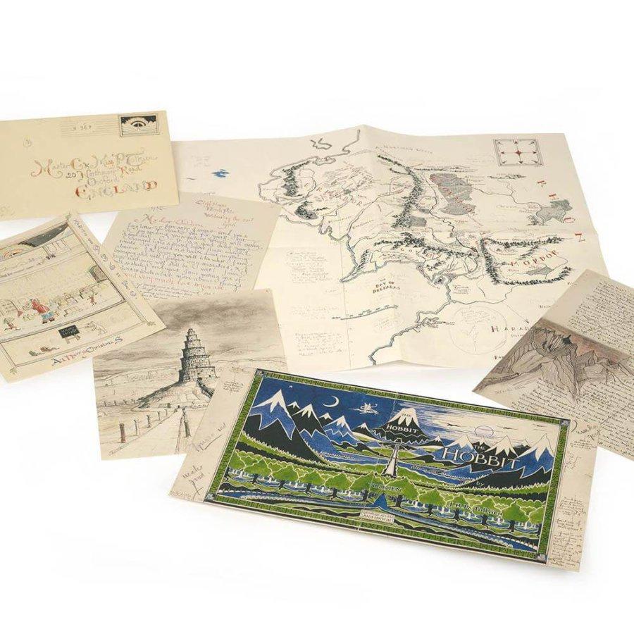 Objetos de la exposición de J R R Tolkien en NYC