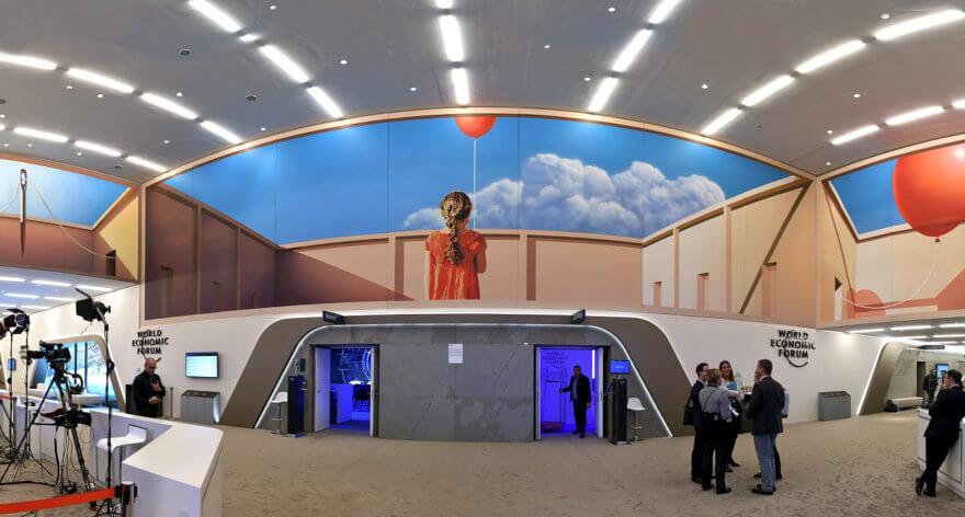Mural poético en el Centro de Congresos en Suiza