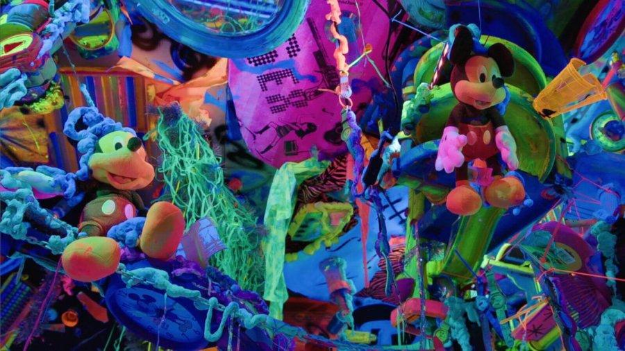Obra en la expo de Mickey Mouse en Nueva York