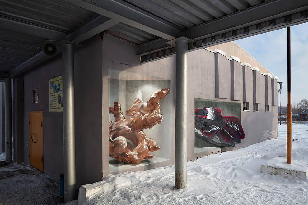 La ciudad de Polevskoy y sus lienzos de arte urbano