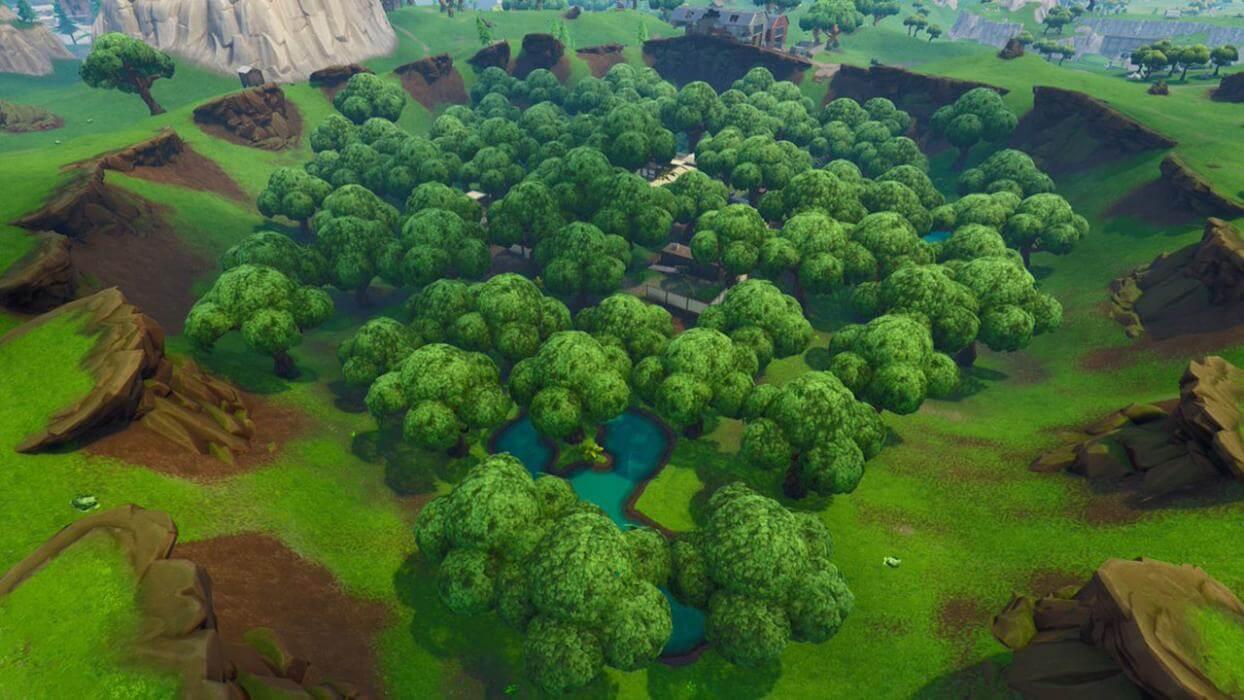 Socavón, uno de los escenarios verdes de Fortnite