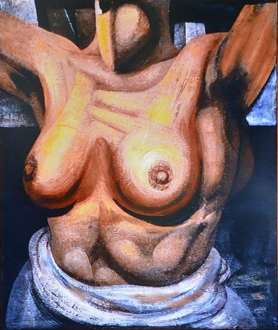 Torso femenino de David Alfaro Siqueiros en la exposición pendiente en el Museo de Arte Carrillo Gil