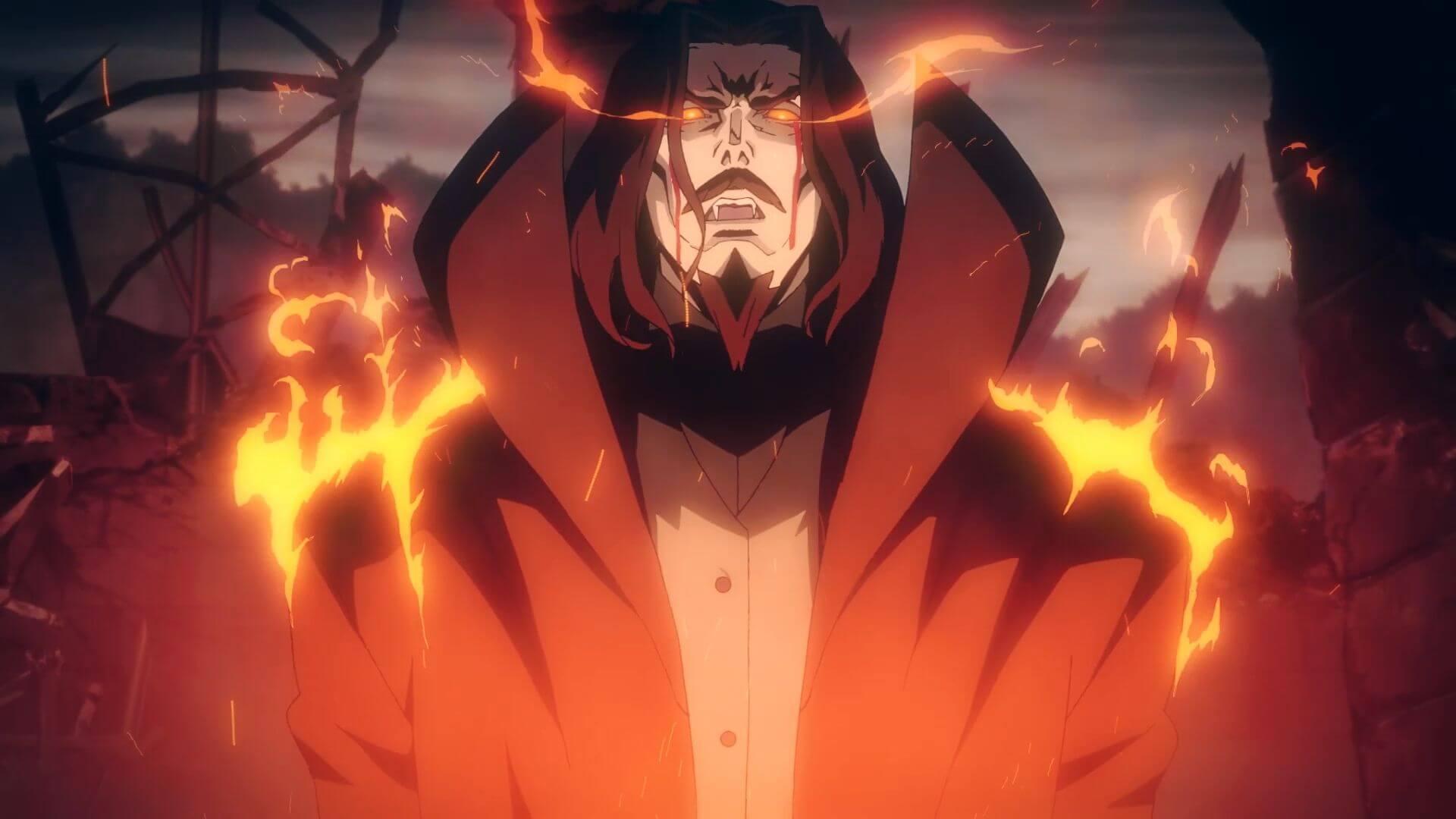 Escena Castlevania, serie de anime de Netflix