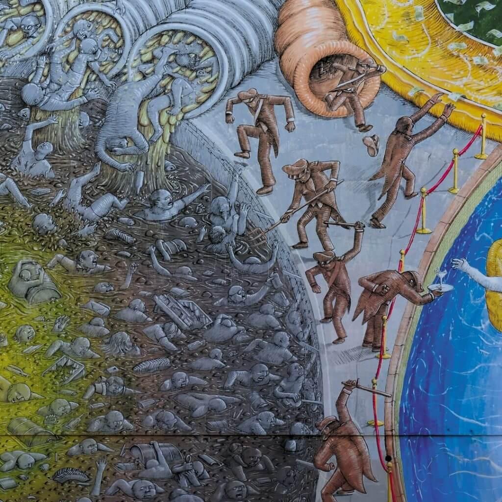 """BLU pinta el mural """"Capita"""""""