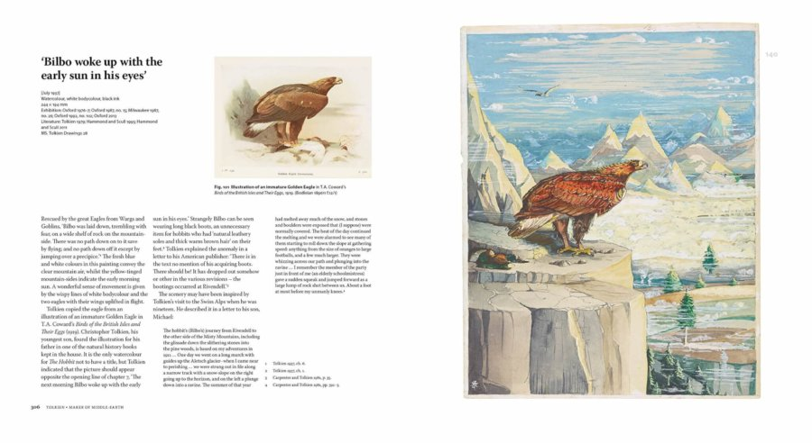 imagen del libro de la exposición de JRR Tolkien en Nueva York