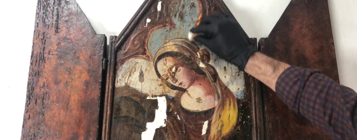 Restauración de obras de arte en YouTube