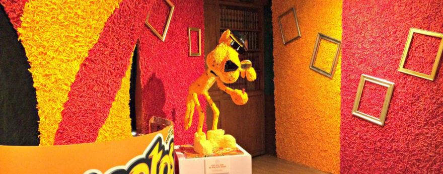 El Museo de Cheetos con Cheetos reales y de todo tipo
