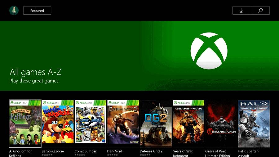 Apariencia de la plataforma inicial de Xbox