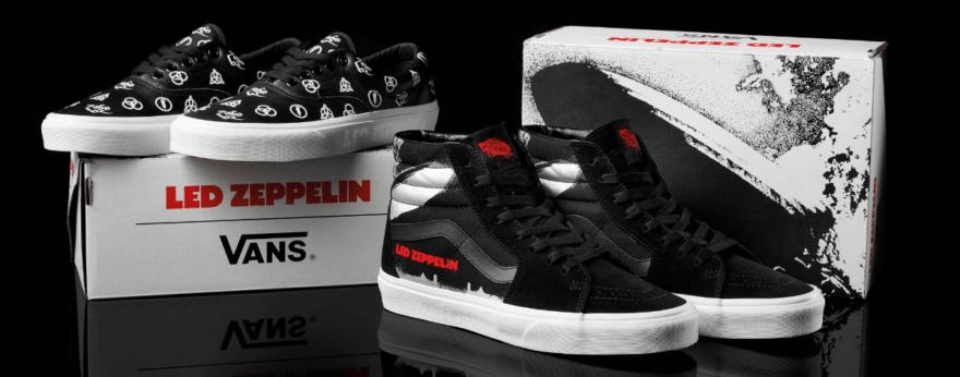 Led Zeppelin y Vans lanzan colaboración