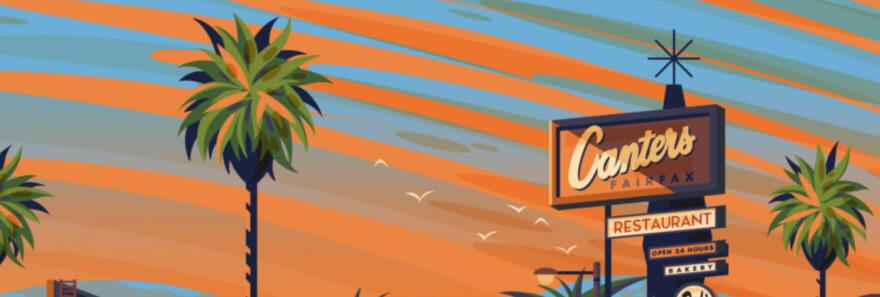 Coloridas ilustraciones de Los Ángeles