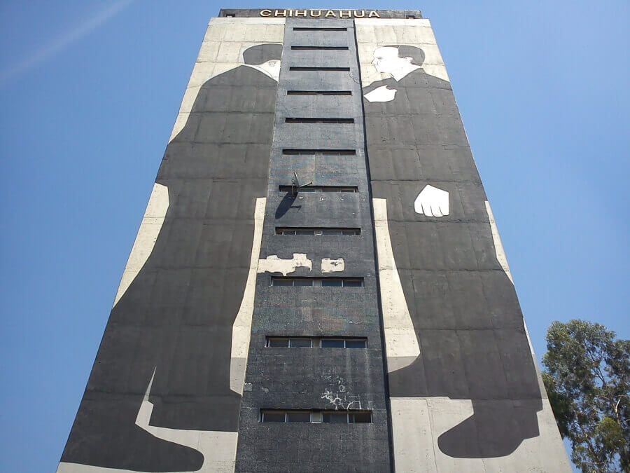 Escif mura in Mexico City