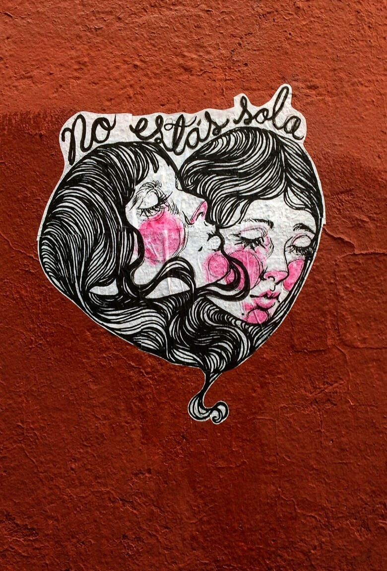 La Femme Gang puro street art desde Morelos
