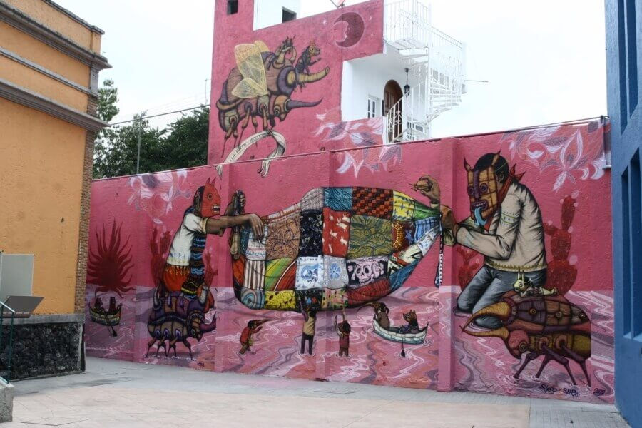 Saner mural in Mexico