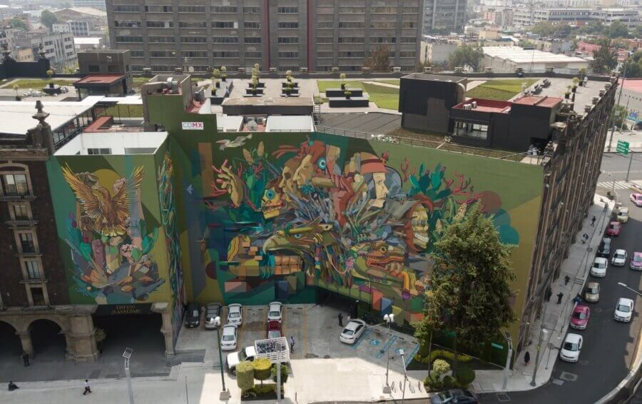 Seher mural in Mexico