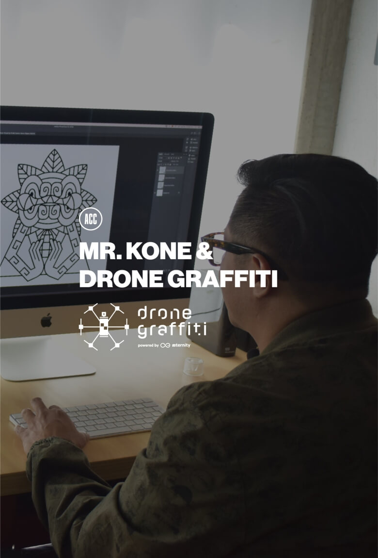 Mr. Kone invitado en Drone Graffiti Project