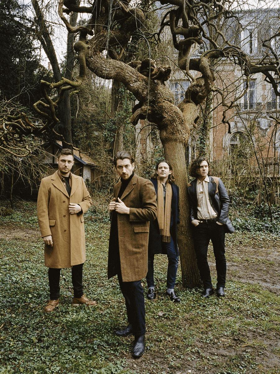 Retrato de la banda Arctic Monkeys