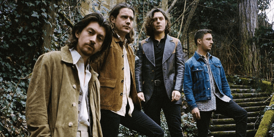 Retrato de la banda Arctic Monkeys