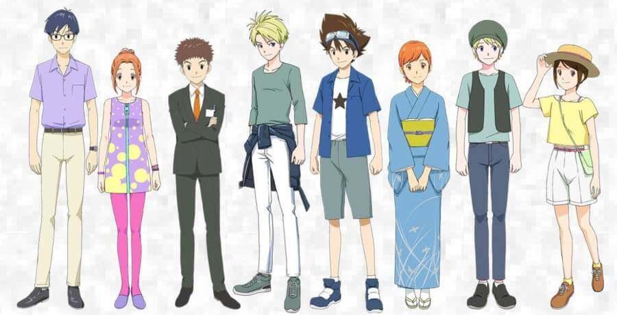 Apariencias de la nueva película de Digimon