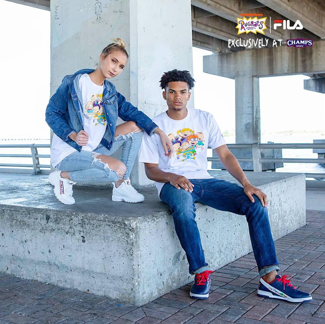camisetas de FILA x Rugrats