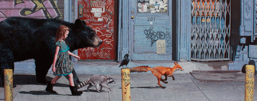 Kevin Peterson y su pintura con fauna e infancia libres