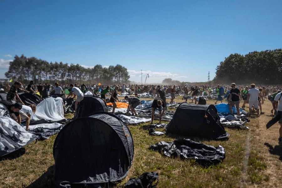 Campamento en el festival Rosklide