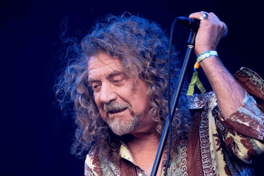 Retrato de Robert Plant